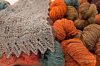 Photograph - Still Life Of Beautiful Yarns Art Prints by Valerie Garner