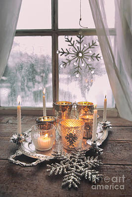 Photograph - Still Life Of Candles In Front Of Window by Sandra Cunningham