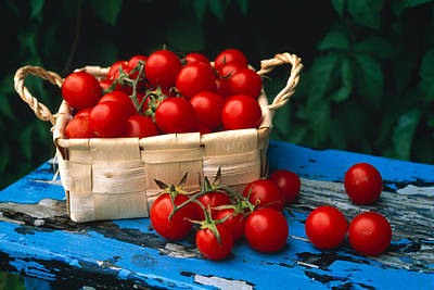 Cherry Tomato Photograph - Still Life Of Cherry Tomatoes by Panoramic Images