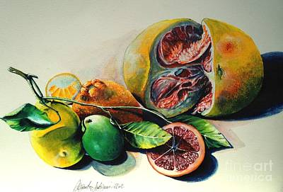Still Life Of Citrus Art Print by Alessandra Andrisani
