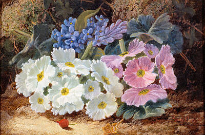 Still Life Of Flowers Print by Oliver Clare