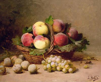 Still Life Of Fruit Oil On Canvas Art Print