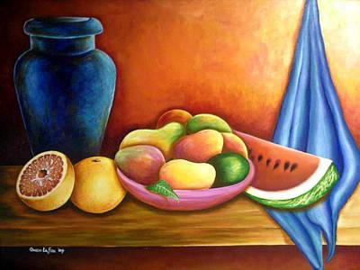 Still Life Of Fruits Art Print