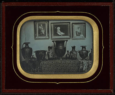 Greek Vase Painting - Still Life Of Greek Vases And Three Paintings Jean-gabriel by Litz Collection