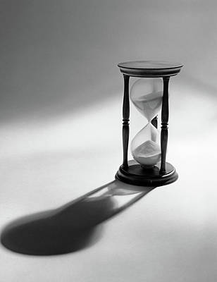 Casting Photograph - Still Life Of Hourglass With Sand by Vintage Images
