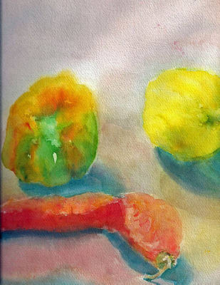 Painting - Still Life Of Lemon - Pepper - Carrot by Shan Ungar