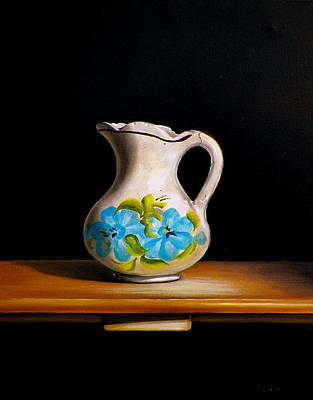 Still Life Of Old Ceramic Water Pitcher Original by RB McGrath