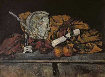 Still Life Of The Artists Accessories Art Print by Paul Cezanne
