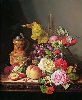 Still Life  Art Print by Edward Ladell