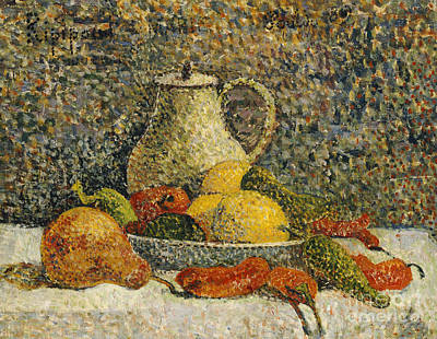 Ceramics Painting - Still Life by Paul Gaugin