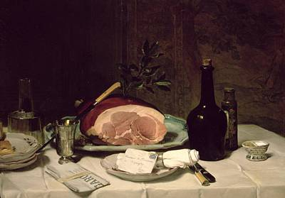 Decanters Painting - Still Life by Philippe Rousseau