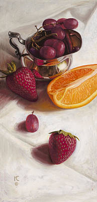 Painting - Still Life Reflections by Ron Crabb