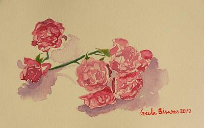 Painting - Still Life Roses by Geeta Biswas