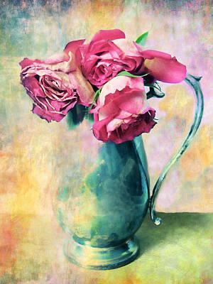 Red Rose Digital Art - Still Life Roses by Jessica Jenney