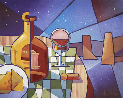 Painting - Still Life Starry Night Two by Larry Hunter