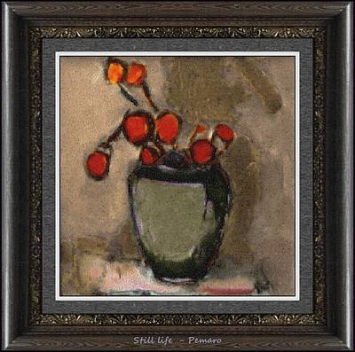 Art Print featuring the painting Still Life Stl2 by Pemaro