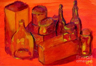 Light Painting - Still Life Study In Orange by Greg Mason Burns