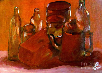 Jars Painting - Still Life Study In Red by Greg Mason Burns