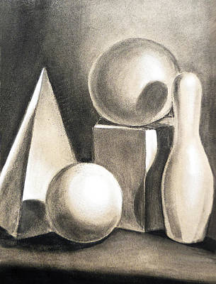 Still Life Drawings - Still Life Study Of Forms by Irina Sztukowski