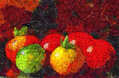 Tomato Mixed Media - Still Life Tomatoes Fruits And Vegetables by Dan Sproul