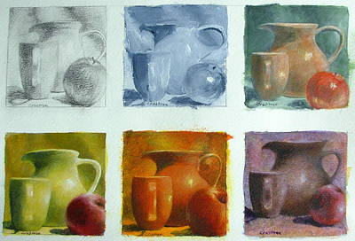 Painting - Still Life Variation On A Theme by Elizabeth Crabtree