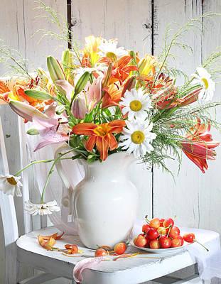 Photograph - Still Life With A Beautiful Bouquet by Marina Volodko