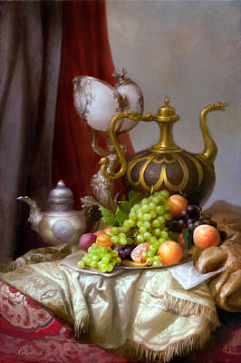 Still-life With A Glass Of Dutch Art Print by Sevrukov