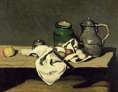 Pottery Painting - Still Life With A Kettle by Paul Cezanne