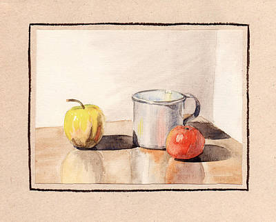 Painting - Still Life With A Metal Mug by Masha Batkova