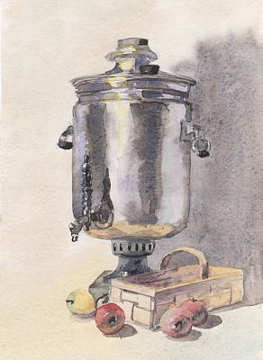 Painting - Still Life With A Samovar by Masha Batkova