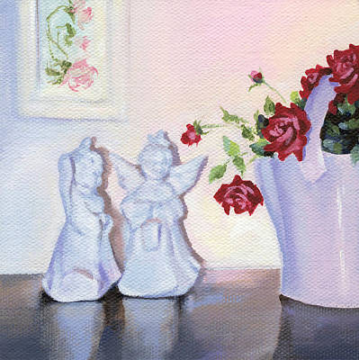 Painting - Still Life With Angels by Natasha Denger