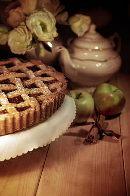 Still Life With Apple Pie Art Print by Jaroslaw Blaminsky
