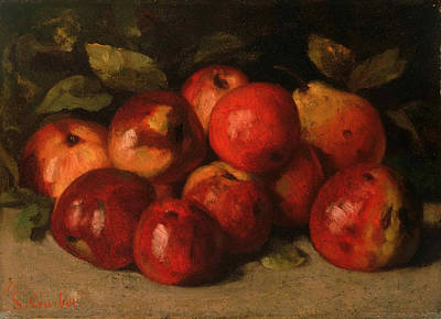 Still Life With Apples And A Pear Art Print