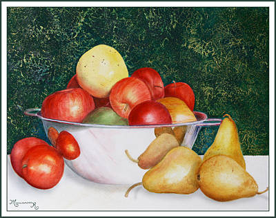 Painting - Still Life With Apples And Pears by Mariarosa Rockefeller