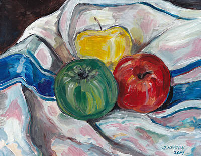 Painting - Still Life With Apples by John Keaton