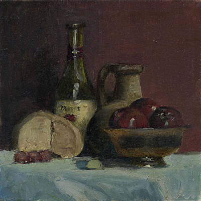 Painting - Still Life With Apples by John Reynolds