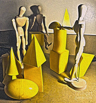 Painting - Still Life With Basic Shapes by Gregory Dyer