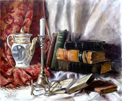 Still Life Painting - Still Life With Books 1 by Irek Szelag