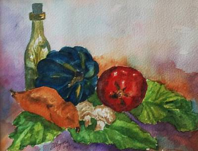 Painting - Still Life With Bottle by Ellen Levinson