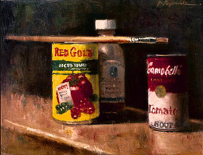 Painting - Still Life With Brush by John Reynolds