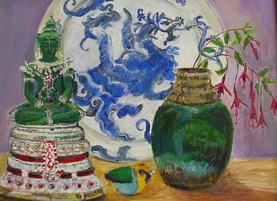 Still Life With Buddha Art Print