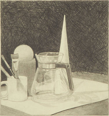 Still Life Drawings - Still Life With Coffee Carafe by Reymond Wilson