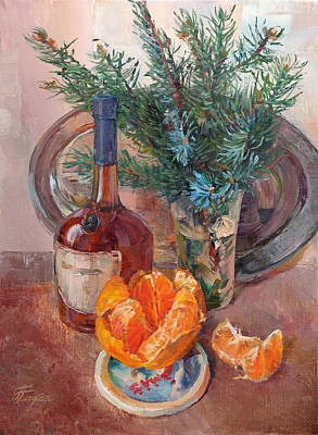 Painting - Still Life With Cognac by Galina Gladkaya