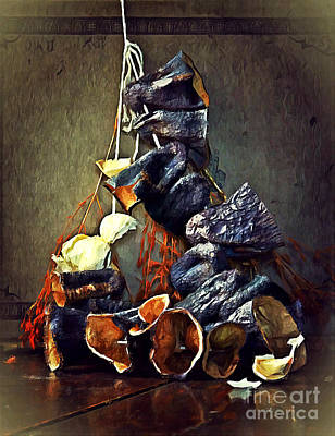 Mixed Media - Still Life With Eggplants by Binka Kirova