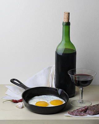 Still Life With Eggs Art Print by Krasimir Tolev