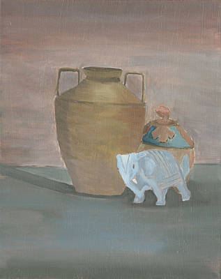 Painting - Still Life With Elephant by Carmela Cattuti