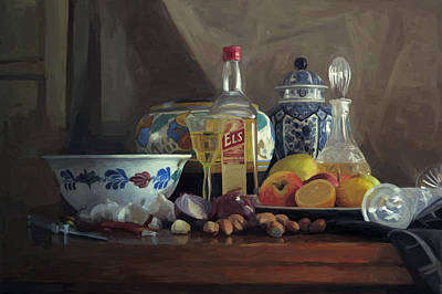Holland Painting - Still Life With Els by Nop Briex