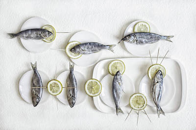 Lunch Photograph - Still Life With Fish by Dimitar Lazarov -
