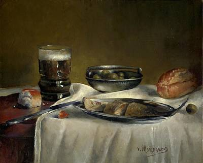 Still Life With Fish Painting - Still Life With Fish by Victor Mordasov