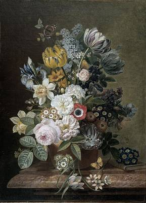 Painting - Still Life With Flowers by Eelke Jelles Eelkema